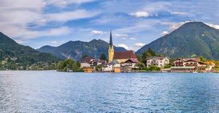 Rottach-Egern nel lago Tegernsee, Baviera superiore Fotografia Stock