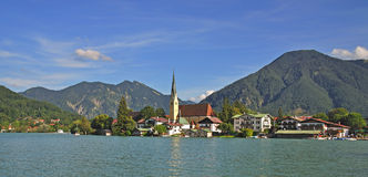 Rottach-egern on tegernsee Royalty Free Stock Photo