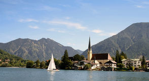 Rottach with Tegernsee in Bavaria Stock Photography