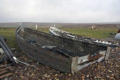 Rotte boten royalty-vrije stock afbeeldingen
