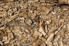 Rotted dry mouldering crushed wood background Stock Images