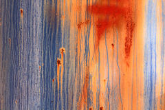 A rotted metal panel covered in rust Stock Photos