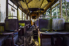 Rotted tram Royalty Free Stock Photography