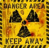 Rotten atomic radiation warning sign, Vector Illustration