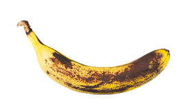 Rotten banana. Isolated on a white background Royalty Free Stock Photo