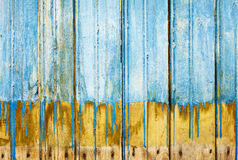 Rotten boards with old paint background Stock Photos