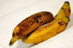 Rotten brown bananas Stock Photos