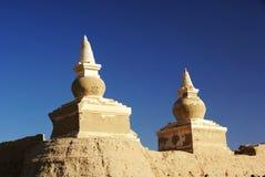 Rotten buddha pagoda royalty free stock photo
