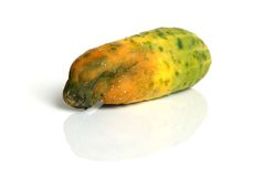 Rotten cucumber. Isolated on the white background Stock Images