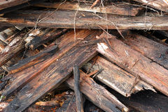 Rotten and damaged planks. Royalty Free Stock Photos
