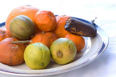 Rotten fruit Stock Photos