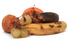 Rotten fruits Stock Image