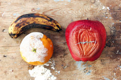 Rotten fruits Stock Image