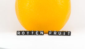 Rotten fruits phrase Stock Photography