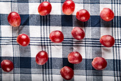 Rotten grapes on the napkin Stock Photography