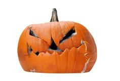 Rotten Halloween Jack-O-Lantern Stock Image