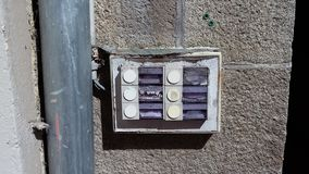 Rotten left door bells Stock Photography