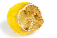 Rotten lemon Royalty Free Stock Image