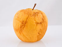 Rotten old apple with clipping path Royalty Free Stock Photography