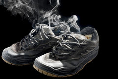 Rotten old sneakers Royalty Free Stock Photo