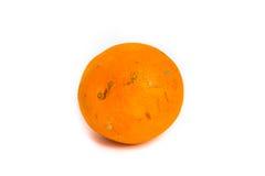 Rotten Orange isolated on white Stock Image