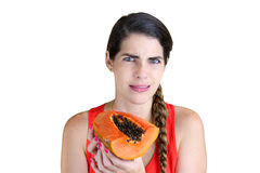 Rotten Papaya Royalty Free Stock Photography