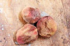 Rotten peach stock image