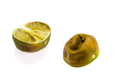 Rotten piece of lime Royalty Free Stock Images