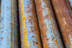Rotten pipes Stock Photo