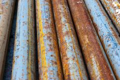 Rotten pipes Royalty Free Stock Image