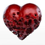 Rotten, sick Heart Stock Photos