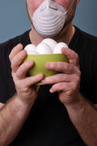 Rotten smell from eggs Stock Photography