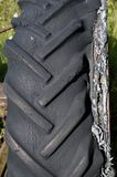 Rotten tractor tire Stock Photography