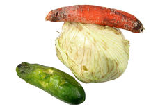 Rotten Vegetables Royalty Free Stock Photography