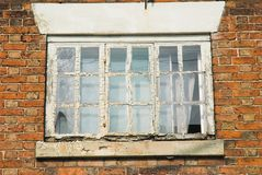 Rotten Window Frame Stock Photography