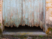 Rotten wood door Royalty Free Stock Images