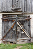 Rotten wooden gates Royalty Free Stock Photo