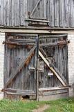Rotten wooden gates Royalty Free Stock Photo