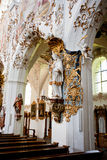 ROTTENBUCH, ALEMANHA - 18 DE JUNHO: Interior da igreja da abadia de Rottenbuch (Kloster Rottenbuch) Imagem de Stock Royalty Free