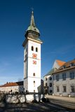 Rottenbuch Church, Germany. The free-standing tower of Rottenbuch Church, Bavaria, Germany Stock Photo