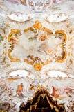 ROTTENBUCH, DEUTSCHLAND - 18. JUNI: Decke der Rottenbuch-Abteikirche (Kloster Rottenbuch) Stockbild