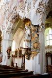 ROTTENBUCH, GERMANIA - 18 GIUGNO: Interno della chiesa dell'abbazia di Rottenbuch (Kloster Rottenbuch) Immagine Stock Libera da Diritti