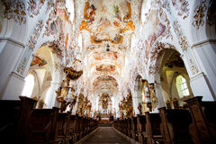 ROTTENBUCH, GERMANY - JUNE 18: Interior of the Rottenbuch Abbey church (Kloster Rottenbuch) Stock Photography