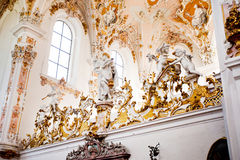 ROTTENBUCH, GERMANY - JUNE 18: Interior of the Rottenbuch Abbey church (Kloster Rottenbuch) Royalty Free Stock Images