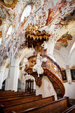 ROTTENBUCH, GERMANY - JUNE 18: Interior of the Rottenbuch Abbey church (Kloster Rottenbuch) Stock Images