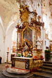 ROTTENBUCH, GERMANY - JUNE 18: Interior of the Rottenbuch Abbey church (Kloster Rottenbuch) Royalty Free Stock Image