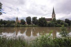 Rottenburg,内卡河,德国 免版税库存照片