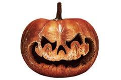 Rottend, enge Halloween-pompoen die op een Chinese draak lijken hij stock foto's