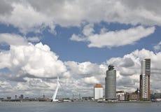 Rotterdam. City view of Rotterdam-clousy sky Stock Photo