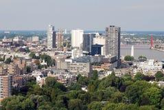 Rotterdam aérea Fotografía de archivo libre de regalías